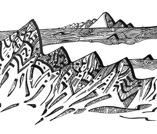 Le dessin des montagnes la revue des ressources - Dessin d une feuille ...