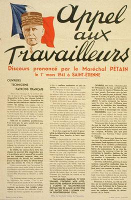 """Maréchal Pétain, affiche du """"vrai travail"""": le détournement qui ..."""