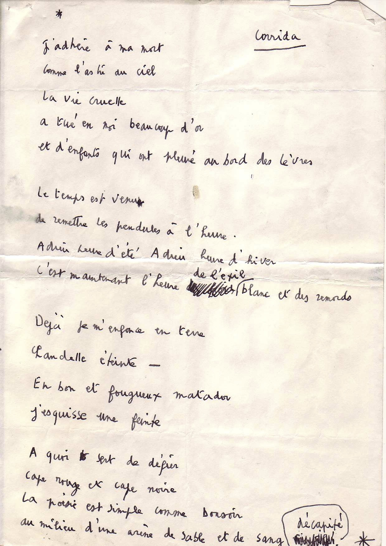 Corrida, André Laude